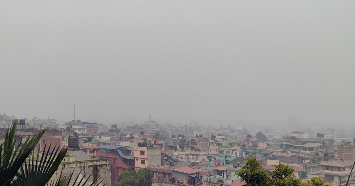 तुवाँलोले ढाकियो काठमाडौंको आकाश, हवाई उडान बन्द